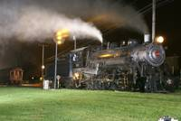Steam Locomotive at Night