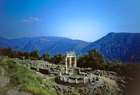 Remains of the Shrine of Athena & Tholos, Delphi by Priscilla Turner
