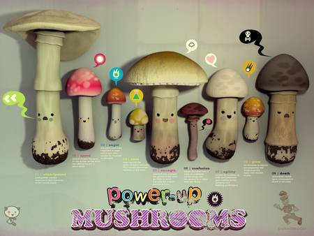 power up mushrooms by Jonathan Ball