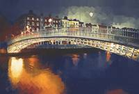 MW011   Halfpenny Bridge, Dublin, Ireland