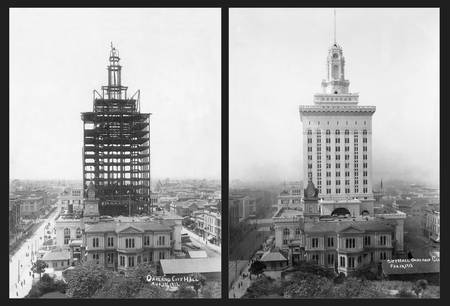 Oakland City Hall during construction 1912-13