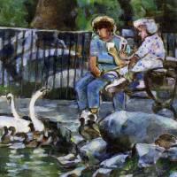 Swans by Faye Cummings