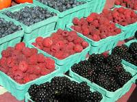 mixed berries for sale at the market
