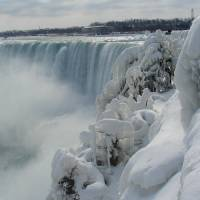 Ice Covered Trees with Falls Art Prints & Posters by Douglas Setzer