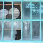 Window in Blue Prints & Posters