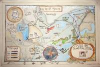 Map of the voyages of Henry Hudson by Peter Hartwe