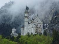 Neuschwanstein in the Clouds