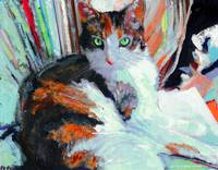 Day At the Office, Portrait of Allie, Calico Cat