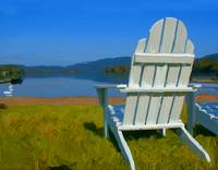 adirondack chair blue mountain lake