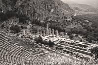 Temple of Apollo and Theatre, Delphi 1960 Sepia-to by Priscilla Turner