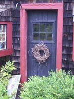 Potting shed door