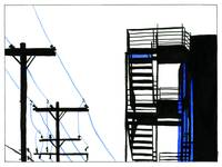 Fire Escape and Telephone Poles