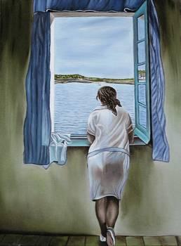 Salvador dali figure at window by dancouture - La ragazza alla finestra dali ...