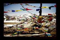 Prayer flags at Lung La Pass, Tibet