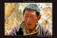 Holy teacher in Tibet