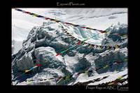 Prayerflags at Advanced Basecamp on Mount Everest,