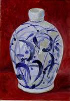 Blue and White Jug