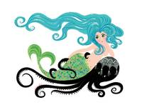 Mermaid on Octopus