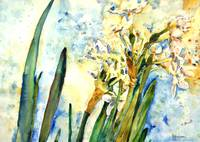 Paperwhites Sky, Floral Painting