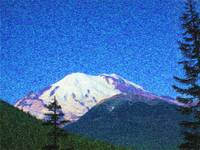 Mount Rainer Van Gogh
