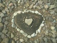 Loch Maree - Stone art - Scotland