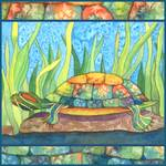 Tie Dye Turtle by Kristen Fox