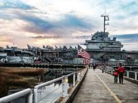 John McCain Rally aboard the USS Yorktown