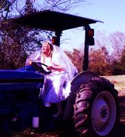 RUN AWAY BRIDE ON TRACTOR