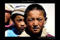 Street kids in Tingri, Tibet