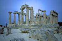Temple of Aphaia, Aegina, Spring Evening 2003 10 by Priscilla Turner