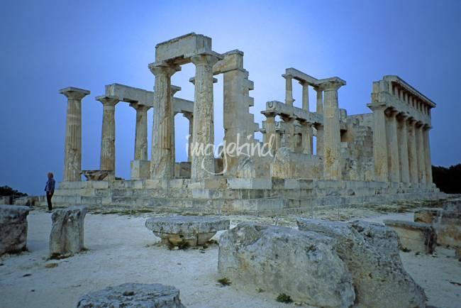Temple of Aphaia, Aegina, Spring Evening 2003 10