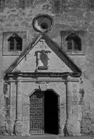 Mission Concepcion: Black and White Facade 1