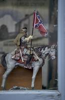 1DV635 Confederate Calvary in Gettysburg Window