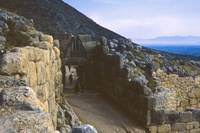 Remains of Lion Gate, Mycenae, Greece, Spring 1960 by Priscilla Turner