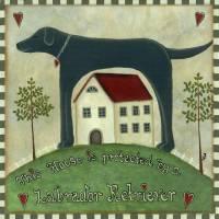 Primitive Labrador 2 Art Prints & Posters by Martina Nichols