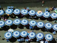 Beach Umbrellas in Sorrento