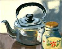 Tea pot still-life