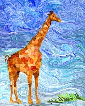 Van Gogh Giraffe By Linda Nordstrom