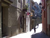 Narrow street in Relleu (Nr Benidorm, Spain. )