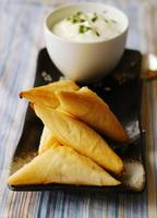 Mushroom and Feta Fillo Triangles