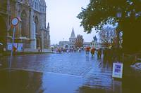 Rain in Buda, outside St.  Matthias' Cathedral