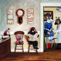"""The Veterinary Clinic- Animal Painting by SM Viola"" by stella"