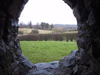 Newgrange window view