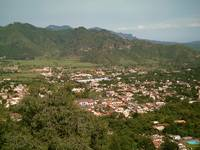 Malinalco Town Seen from Atop the Ruins