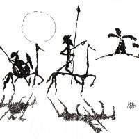 """Donquijote y Sanchopanza"" by mago"