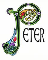 Celtic Irish Art Name Peter