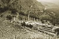 Temple of Apollo and Theatre, Delphi 1960Gold-tone