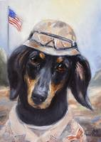 Go Troops!  Dachshund Dog Soldier Violano