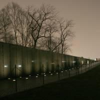 """Vietnam Veterans Memorial and Washington Monument"" by dcphoto"