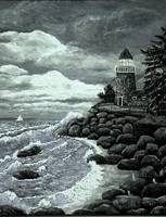 Madeline's Lighthouse ~Black & White~ArtRevu